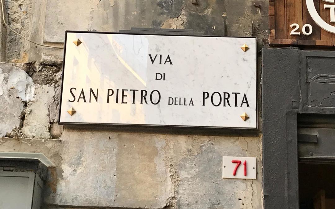 Via San Pietro della Porta